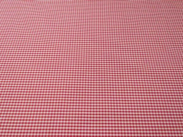 Baumwollstoff Vichy-Caro in weiss und rot