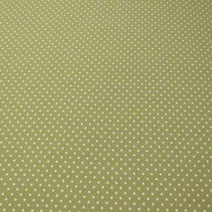 Baumwollstoff in grün mit Punkten