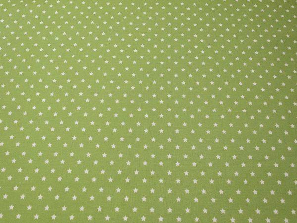 Baumwollstoff in grün mit Sternen