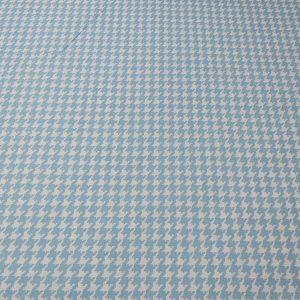 Baumwollstoff mit Krähenfussmuster in hellblau