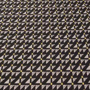 Geometrischer Stoff in schwarz