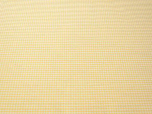 Stoff Vichy-Caro aus Baumwolle in gelb