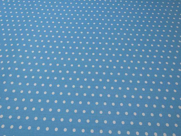 Stoff aus Baumwolle in cyan mit Punkten
