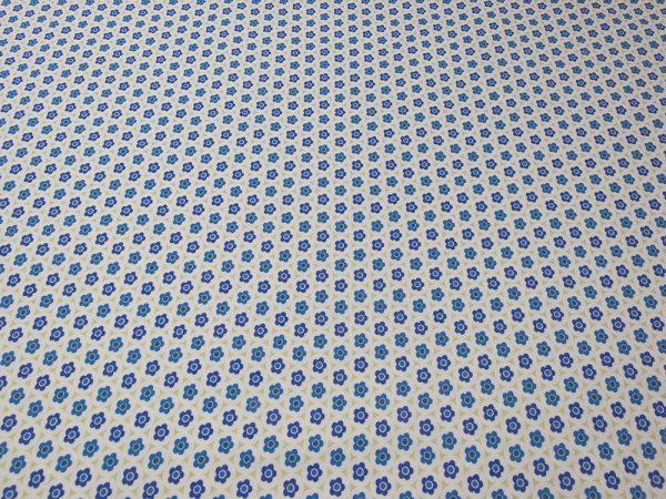 Stoff aus Baumwolle mit Blümchen in blau und grün