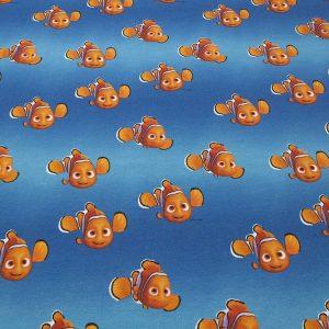Stoff mit Nemo-Motiv in blau