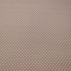 Stoff mit Punkten aus Baumwolle, weiss und beige