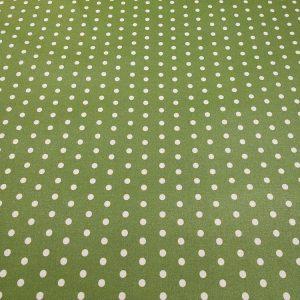 Stoff mit Punkten in grün