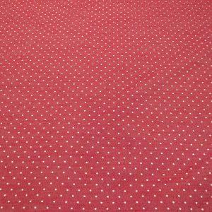 Stoff mit Punkten in weiss und rot