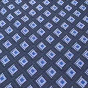 Stoff mit Rauten in blau