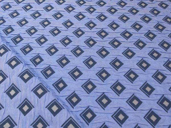 Stoff mit Rauten in blau, Rückseite