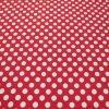 Stoff mit grossen Punkten in weiss und rot