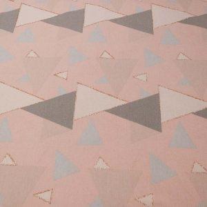 Stoff mit Dreiecken in rosa