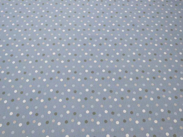 Stoff mit Punkten in hellblau
