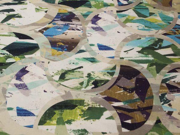 Stoff mit abstrakten Farbflächen
