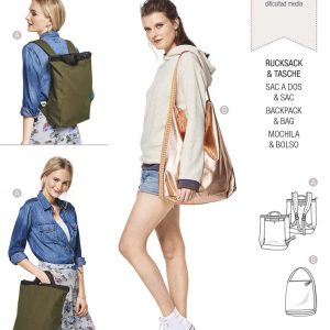 6400 Burda Style Schnittmuster Rucksack und Tasche