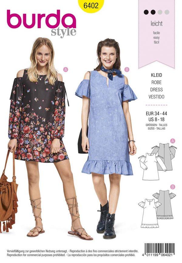 6402_Burda Style Schnittmuster Kleid