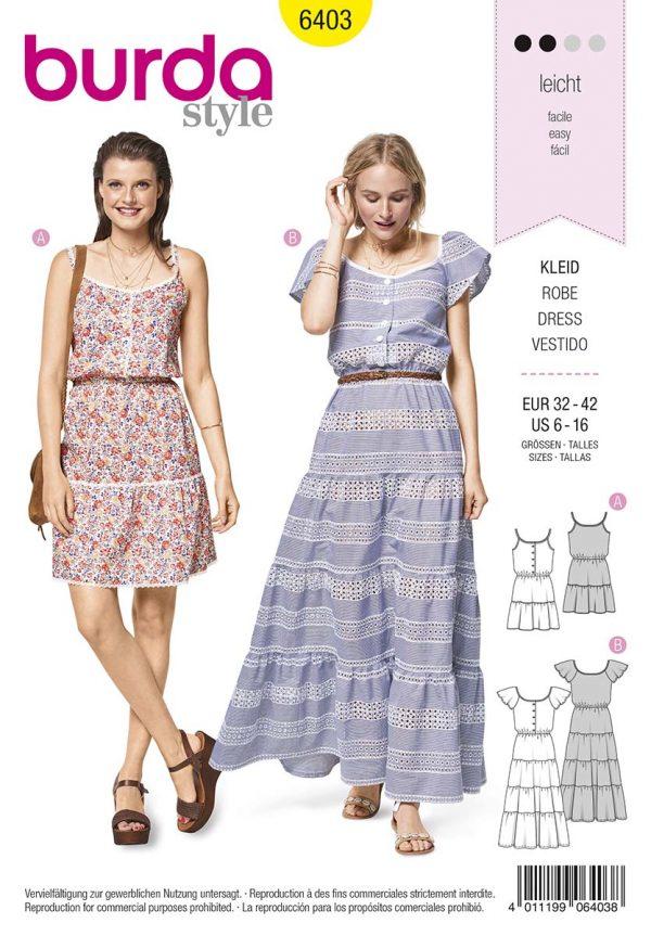 6403 Burda Style Schnittmuster Kleid