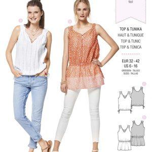 6404 Burda Style Schnittmuster Top und Tunika