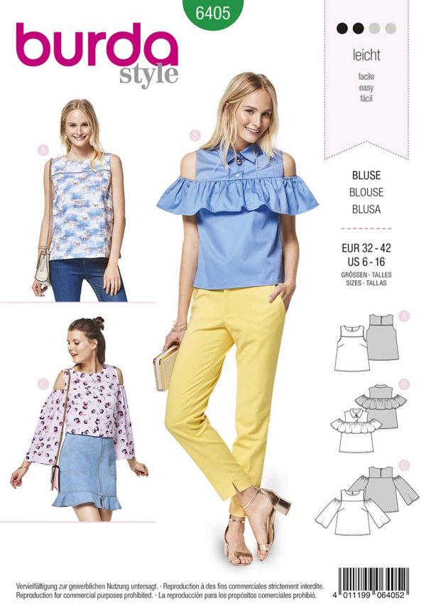 6405 Burda Style Schnittmuster Bluse
