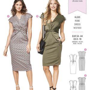 6411 Burda Style Schnittmuster Kleid