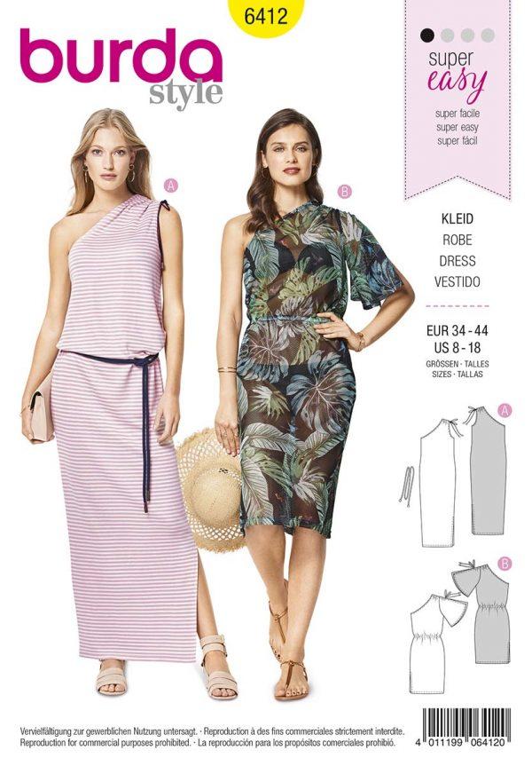 6412 Burda Style Schnittmuster Kleid