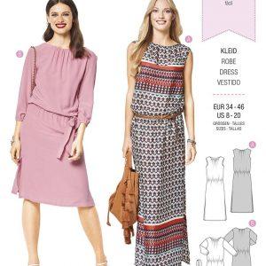 6413 Burda Style Schnittmuster Kleid