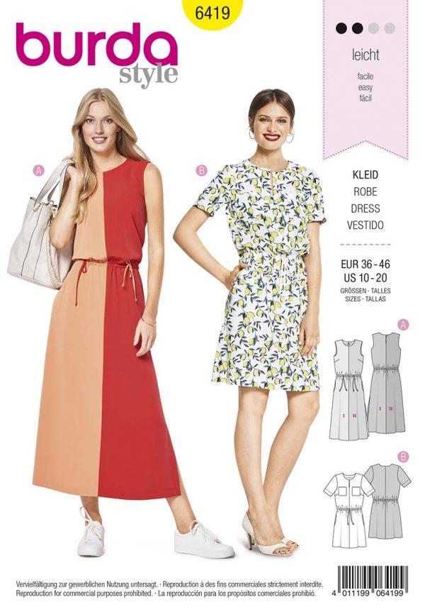 6419 Burda Style Schnittmuster Kleid
