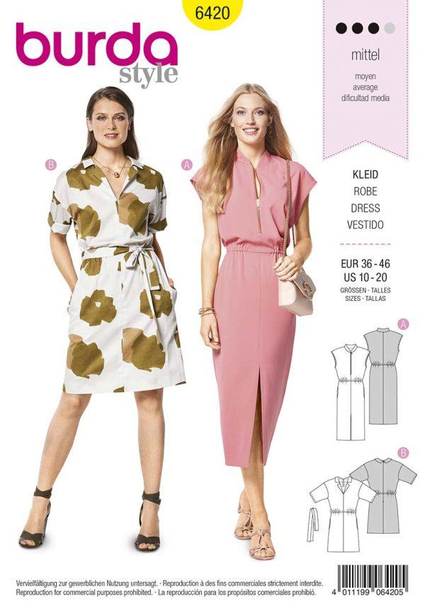 6420 Burda Style Schnittmuster Kleid