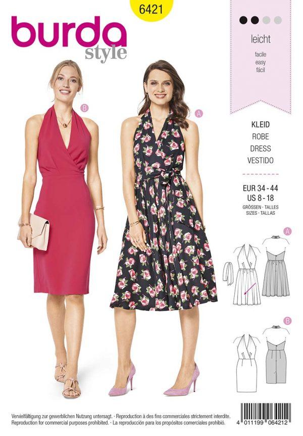 6421 Burda Style Schnittmuster Kleid