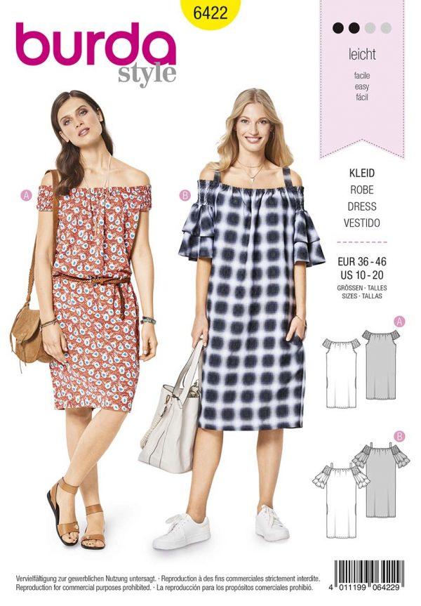 6422 Burda Style Schnittmuster Kleid
