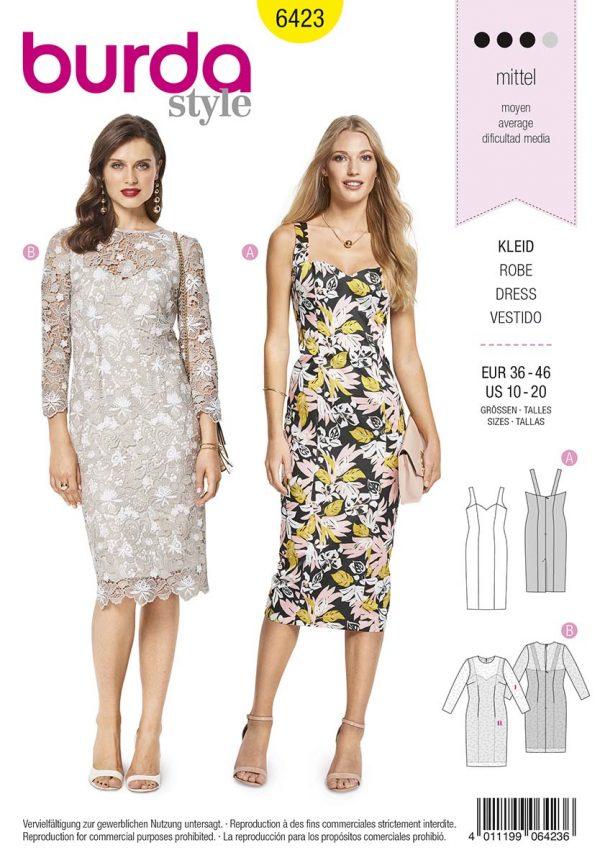 6423 Burda Style Schnittmuster Kleid