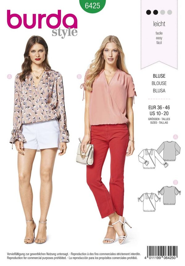 6425 Burda Style Schnittmuster Bluse