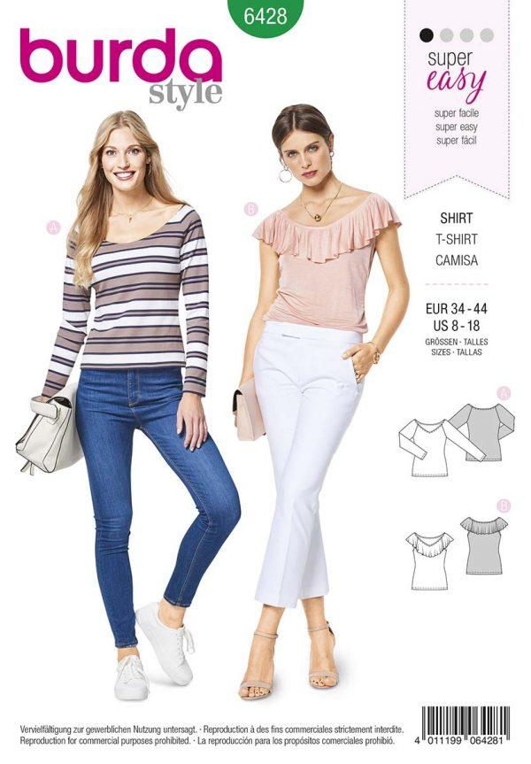 6428 Burda Style Schnittmuster Shirt