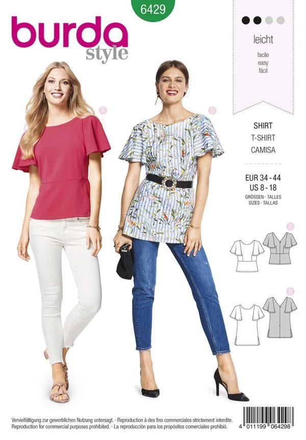 6429 Burda Style Schnittmuster Shirt