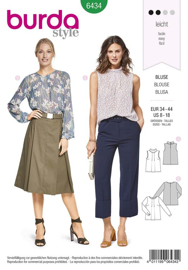 6434 Burda Style Schnittmuster Bluse