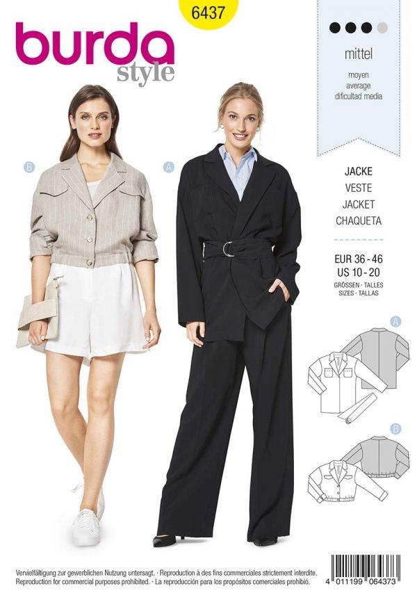 6437 Burda Style Schnittmuster Jacke