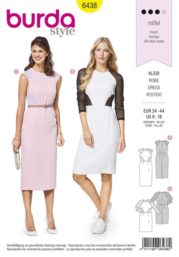 6438 Burda Style Schnittmuster Kleid