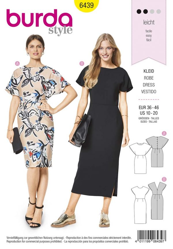 6439 Burda Style Schnittmuster Kleid