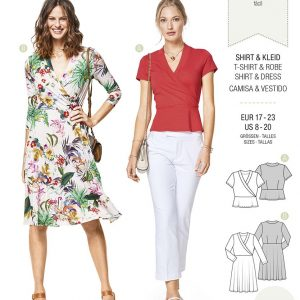6443 Burda Style Schnittmuster Shirt & Kleid