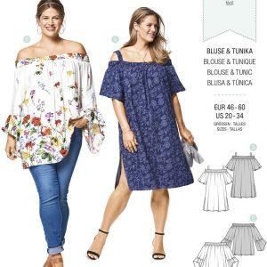 6446 Burda Style Schnittmuster Bluse und Tunika