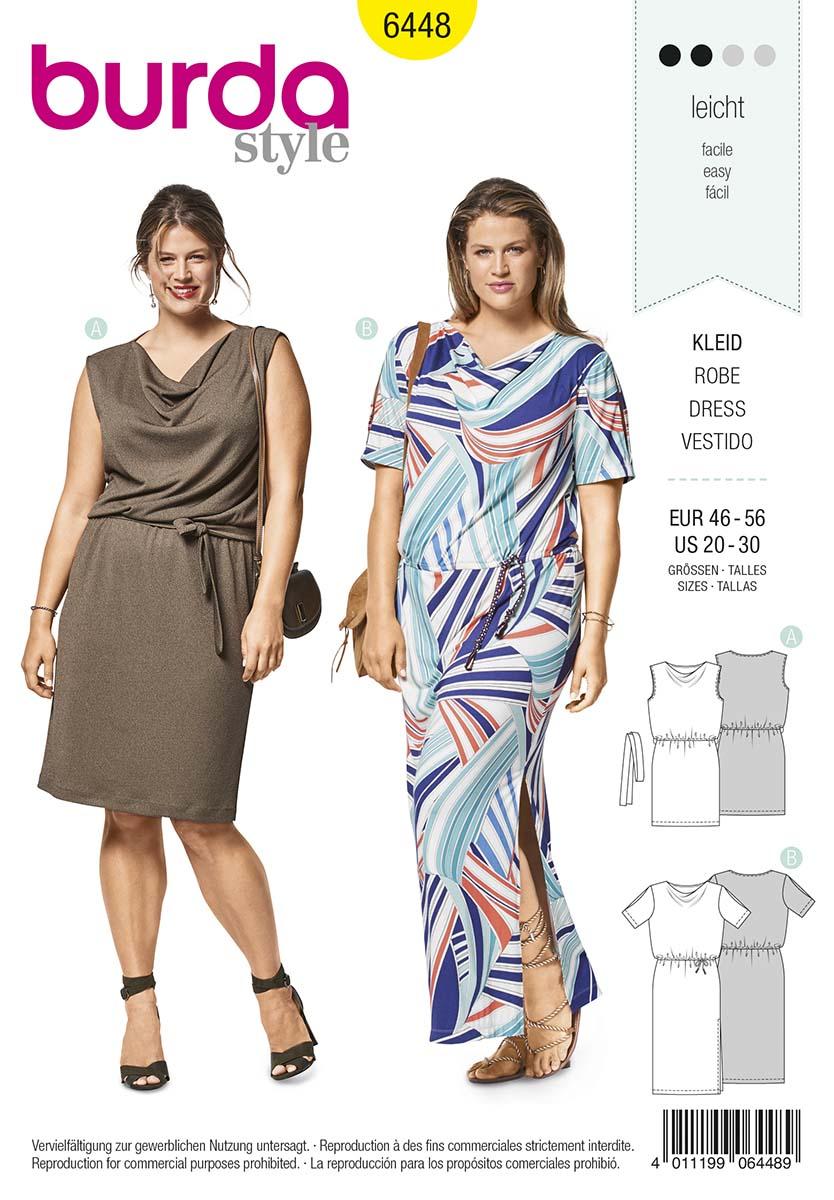 Burda Style, Kleid (6448) - stoffekaufen.ch