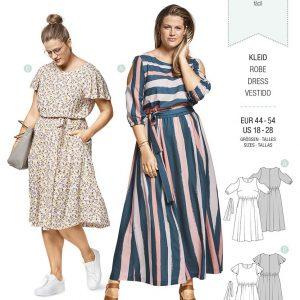6449 Burda Style Schnittmuster Kleid