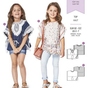 9340 Burda Kids Schnittmuster Top