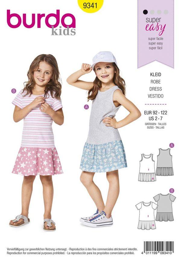 9341 Burda Kids Schnittmuster Kleid