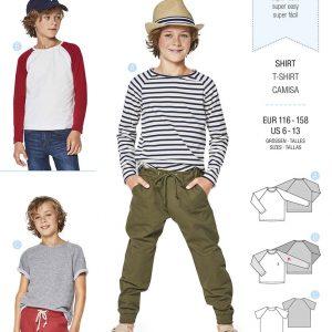 9346 Burda Kids Schnittmuster Shirt