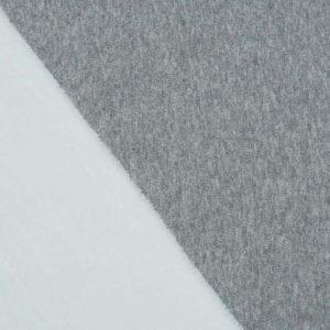 Alpenflausch, grau und weiss, Sweater mit Fell