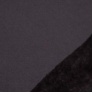 Alpenflausch uni schwarz, Sweater mit Fell
