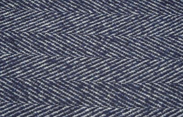 Fischgrat Stoff, blau und weiss