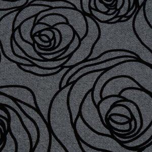 Flockprint auf floralem Stoff