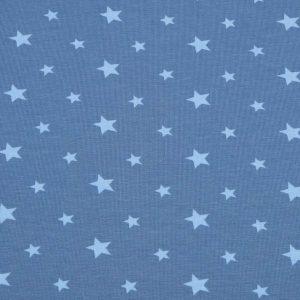 Stoff mit Sternen blau, hellblau